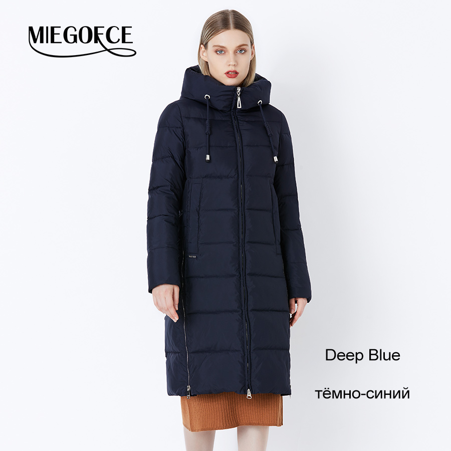 Us 2400 Miegofce 2018 Thick Winter Windproof Coat Stand Up Collar Hooded Winter Jacket High Quality Sale Winter Collection Womens Parka In Parkas