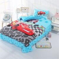 Disney Cars Frozen Elsa Ann Barbie Princess Cotton Cartoon Student Kid Boy Girl Bed Decor Throw 3PCS bedding set Gift