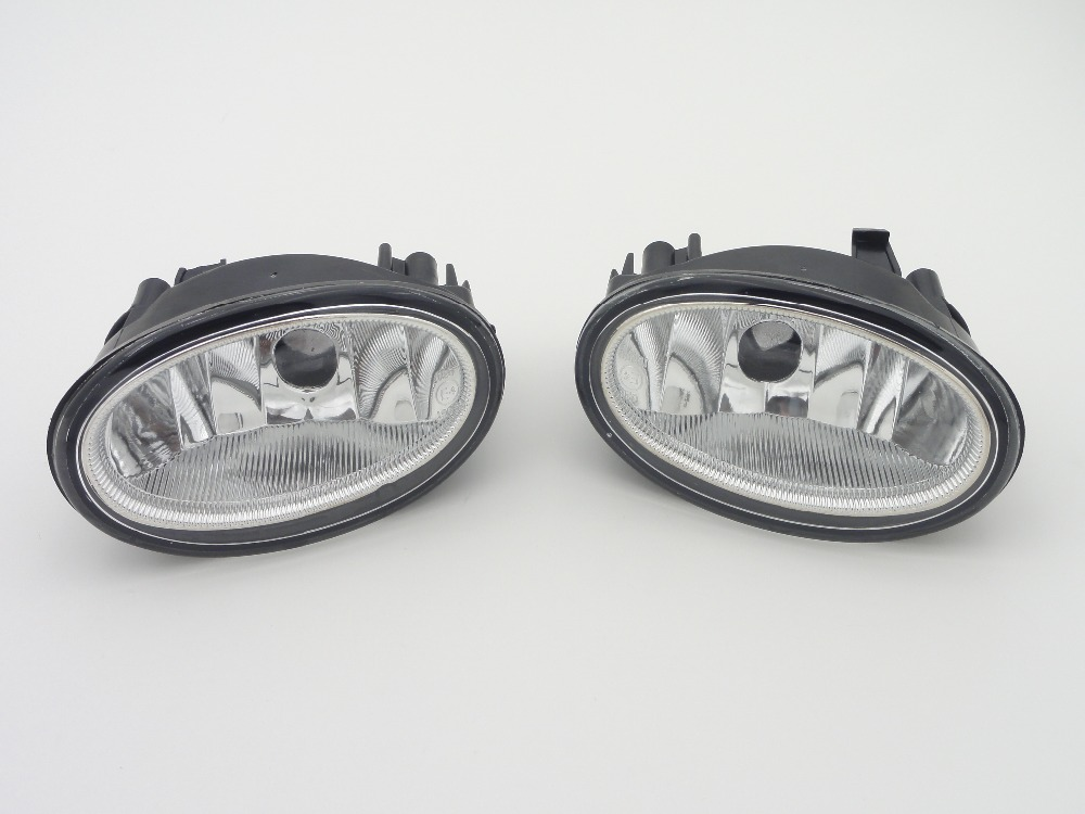 1 Pair LH+RH Clear Lens Fog Lights Front Bumper Driving Lamps Without Bulb for HONDA HR-V 2016-2017 1pair rh and lh front fog lights bumper driving lamps without bulbs for honda accord sedan 1998 2002