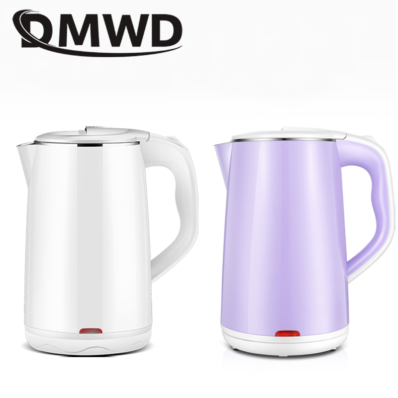 цена на DMWD 1.8L Electric Kettle 304 Stainless Steel Auto Power-off Thermal Instant Heating Boiling Pot Hot Water Boiler Teapot Cup EU