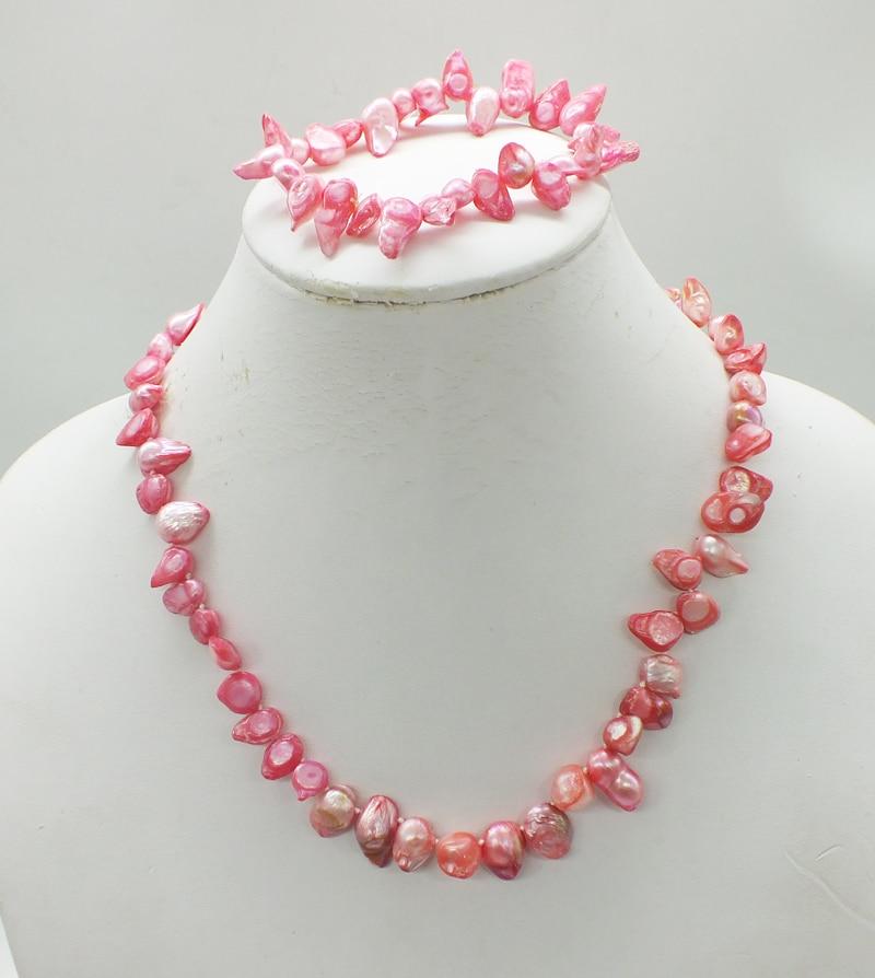 2019-01-4-1326# Natural freshwater Baroque pearl necklace. Bracelet