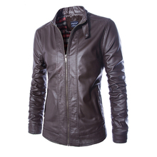 High Quality Brand Winter PU Washed Leather Jacket 2017 Fashion Men Casual Stand Collar Motorcycle Jacket