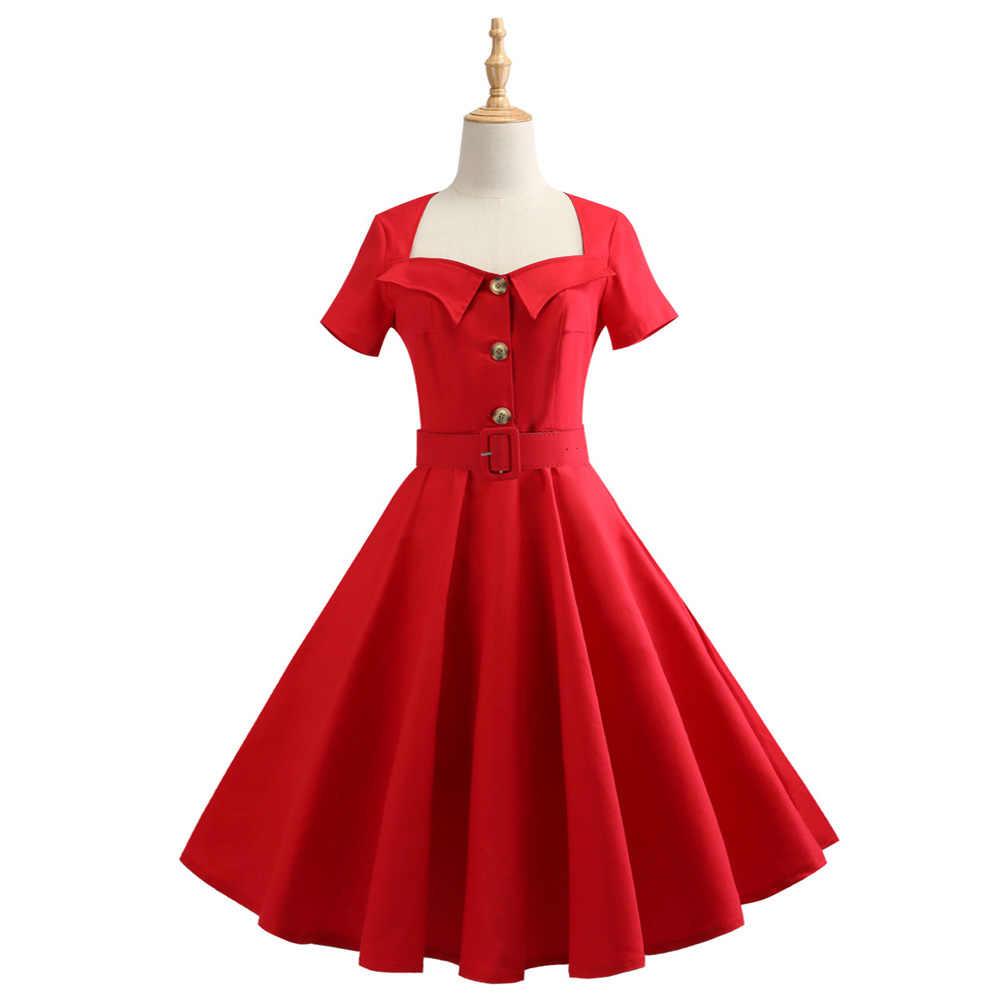 35f8d884013 ... S-4XL 5XL плюс размеры для женщин Одри Хепберн 60 s Винтаж Платье  вечерние элегантные ...