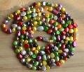 Ожерелье оптовая продажа жемчужные украшения, Многоцветный длинные 48 дюйм(ов) 6 - 9 мм барокко форма подлинная пресноводный жемчуг - новый бесплатная доставка
