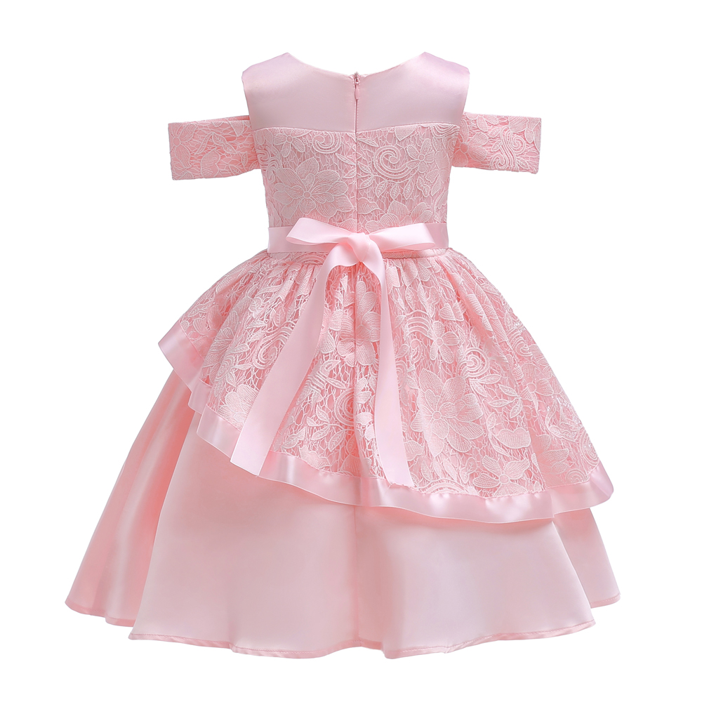 Retail Bow Lace Princess Dress for Girls Baby Reception Forma girls Clothes  Ball Gown For Girl Dress Knee length Style -in Dresses from Mother   Kids  on ... 4e55e4a89105