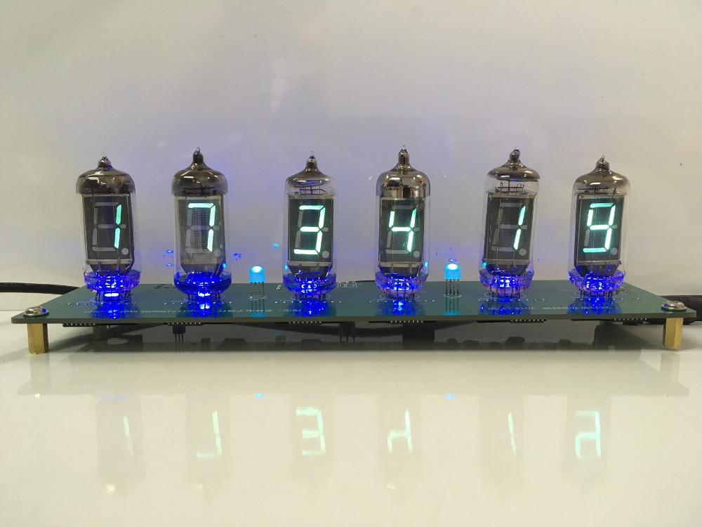 6 Bit LED Glow Digital Clock Nixie Tube Clock Kit DIY Electronic Retro Desk Clock 5V Micro USB Powered6 Bit LED Glow Digital Clock Nixie Tube Clock Kit DIY Electronic Retro Desk Clock 5V Micro USB Powered