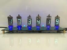 6 bitów blask lampy led zegar cyfrowy Nixie Tube zestaw do zegara DIY elektroniczny Retro zegar na biurko 5V Micro USB zasilany energią słoneczną tanie tanio Nowość OLOEY 1Year