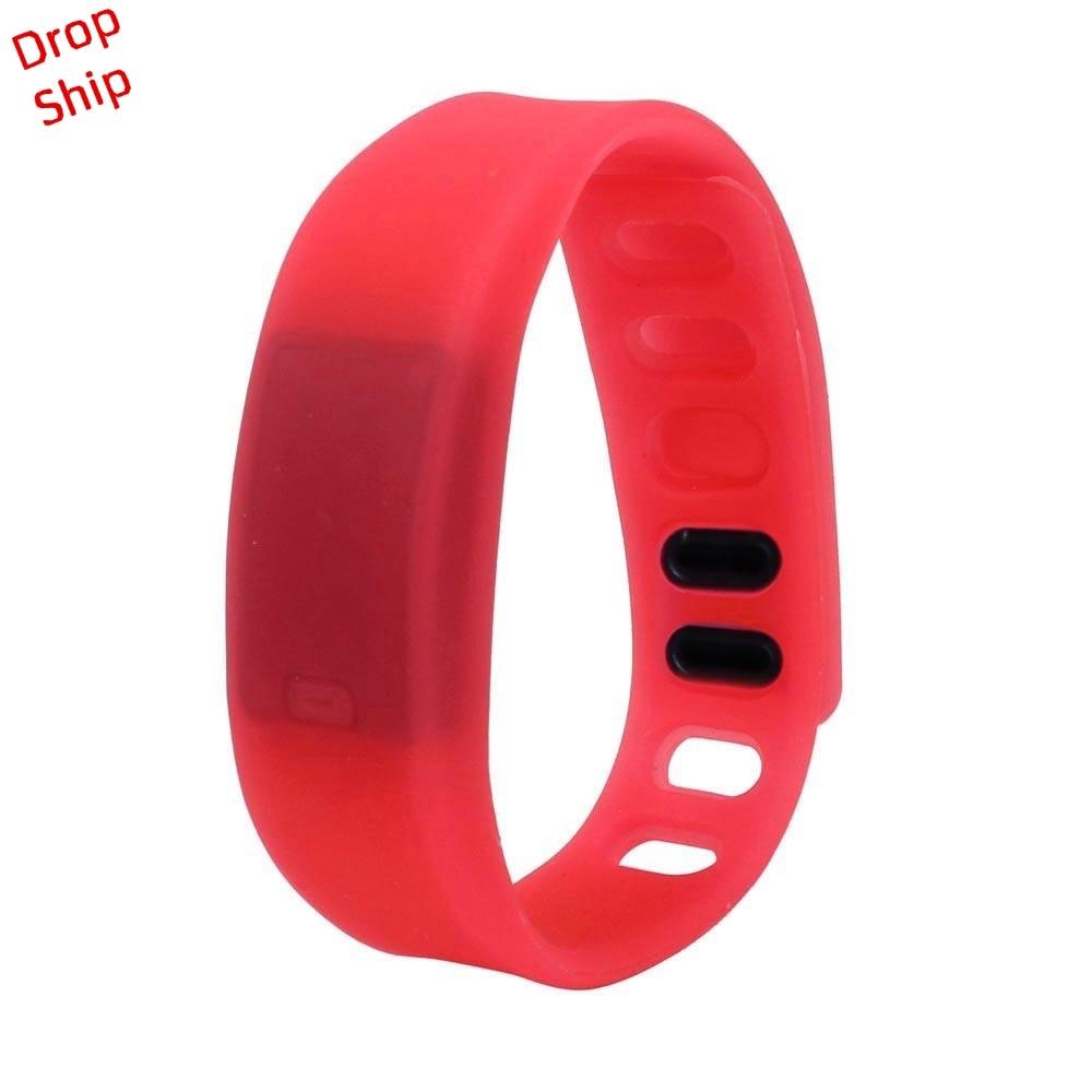 Stylowa hurtownia Mężczyźni Kobiety Relogio Rubber LED Watch Data - Męskie zegarki - Zdjęcie 3