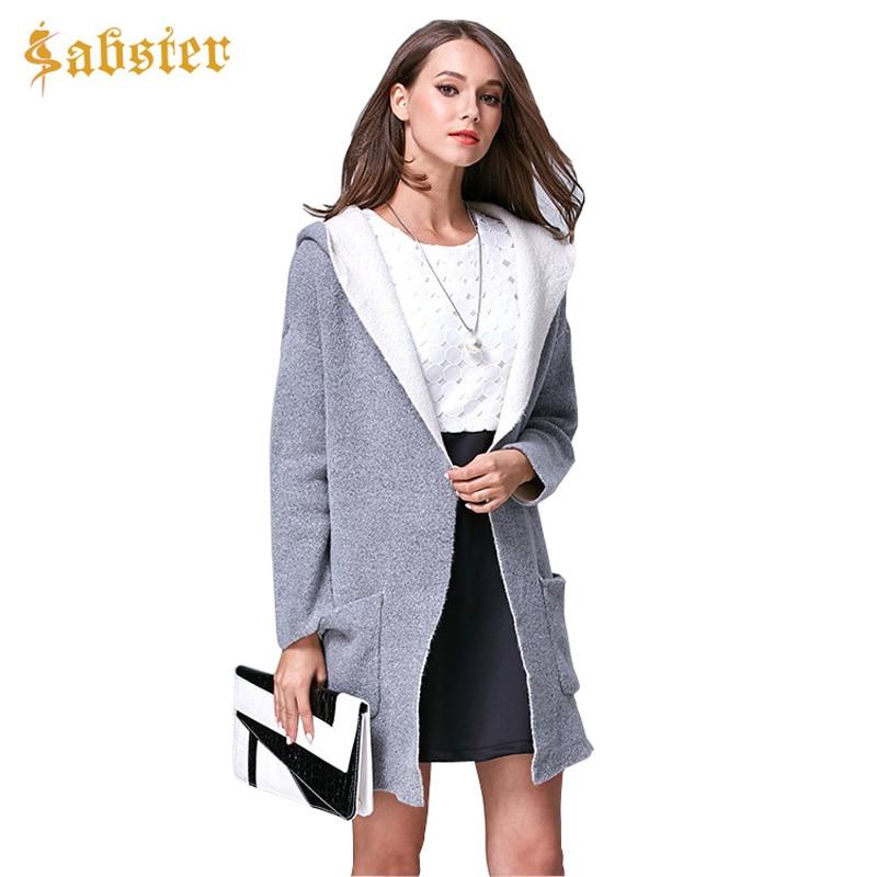 2017 Autumn Winter Cardigan Coat Women Poncho Capes Loose Fashion Oversized Cardigan With Hood