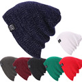 Unisex Женщины Мужчины Вязать Зима Теплая Лыж Крючком Сутулиться Шляпы Cap Шапочка Негабаритных