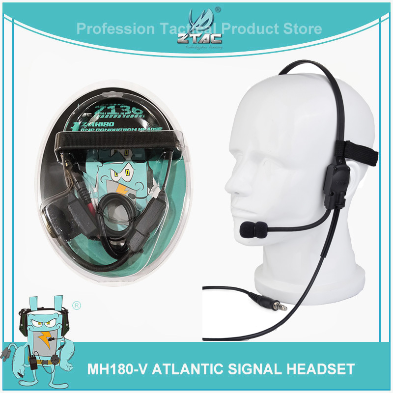 z tac Airsoftsports Tactical Element Softair PTT Aviation Headset Atlantic Signal MH180 V Sniper Peltor Z136