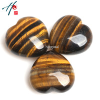 Wholesale 3pcs 4cm Natural Crystal Craft Christmas Birthday Valentine S Gift Tiger Eye Heart Home Decoration