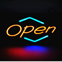 New Waterproof LED Open Sign Led Epoxy Resin Sign On Off Switch Bright Light Neon