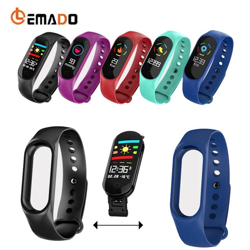 LEMADO M3 Smarrt Fitness Braccialetto Multi-Modalità sport Misuratore di Pressione Sanguigna di Ossigeno IP67 Impermeabile Schermo a Colori Wristband PK Mi Band 3