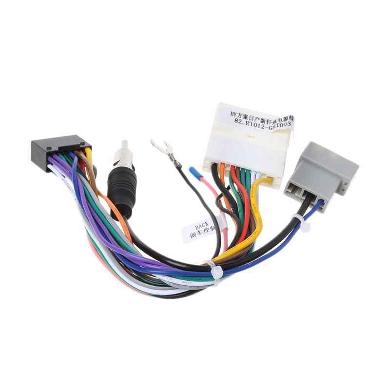 Mới 1 Bộ 16Pin Đầu Xe Ô Tô Đơn Vị Dây Adapter Stereo Xe Hơi Cổng Kết Nối Điện Dành Cho Xe Nissan OEM Phát Thanh Xe Hơi dây Nịt