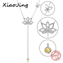 New arrival 925 sterling silver lotus flower pendant chain necklace with cubic zircon diy fashion jewelry making for women gifts 3 4mm long fresh water pearl necklace multi layers 925 sterling silver with cubic zircon flower party necklace fashion jewelry
