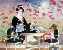 beibehang 3d wallpaper on the grass lying pattern of skirt beautiful Japanese beauty painting papel de parede wall paper