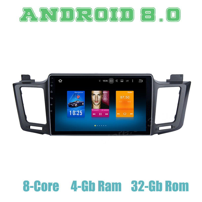 Octa core px5 Android 8,0 car GPS reproductor de radio para Toyota RAV4  2012-2016 con 4G RAM wifi 4g
