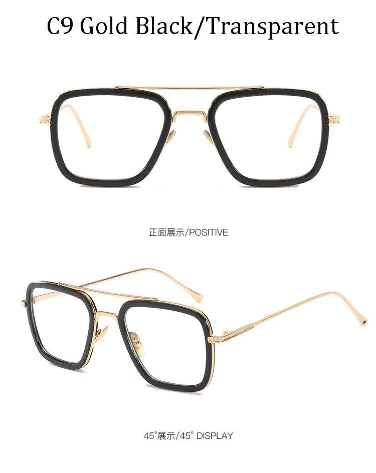 luxury Fashion Avengers Tony Stark Style for women Sunglasses Men Square Brand Design Sun Glasses Oculos Retro male iron Man 13