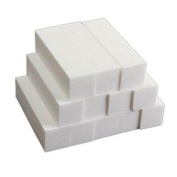 цена на 12 Pcs White Sanding Sponge Nail File Buffer Block for UV Gel Nail Polish DIY Nail Art Manicure PedicureNail Buffers NShopping