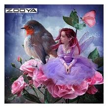ZOOYA Diamond Painting Girl Bird Embroidery Sale Pictures Rhinestone Kits 3D DIY Full Drill Mosaic RF1820