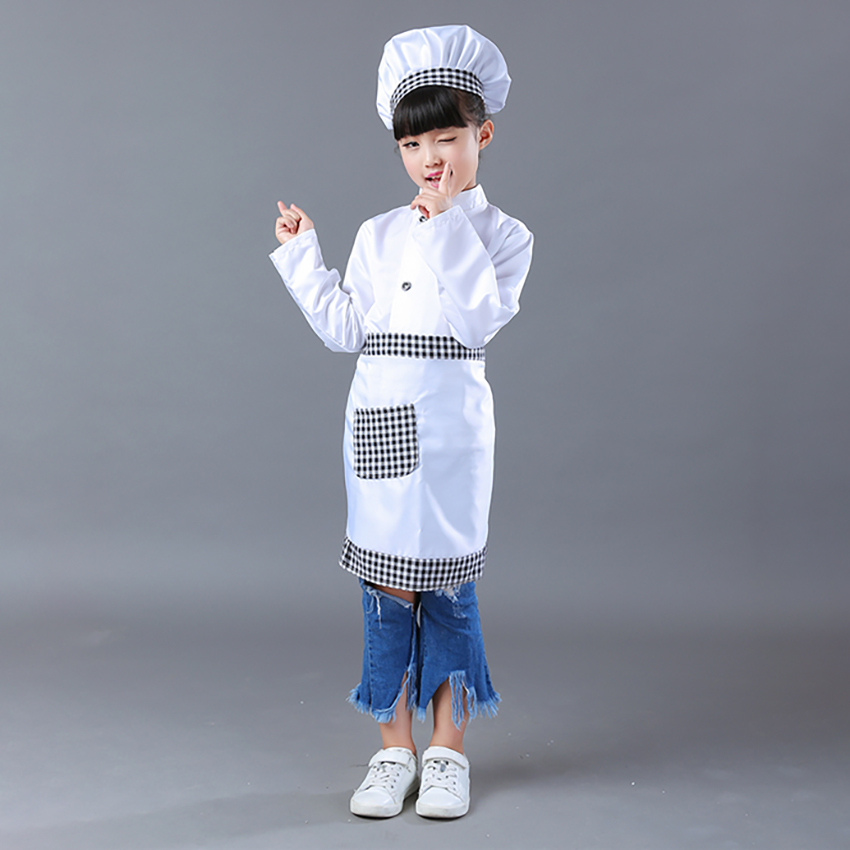 Diy Painting Apron Kids Chef Uniform Stitching Color Skirts For