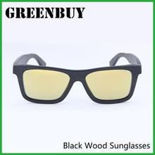 Cool Ladies Luxury Sunglasses Women 2016 Versae Gold Lenses Eye Color Women Bamboo Sunglasses Oculos De Sol Feminino GB019