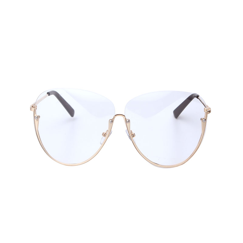 c0a1587162d Hot Sell Female transparent Eyeglasses Women Unique Sunglasses Oversized  Frame Clear Lens Lady Rimless Sun Glasses Oculos Desol-in Sunglasses from  Apparel ...