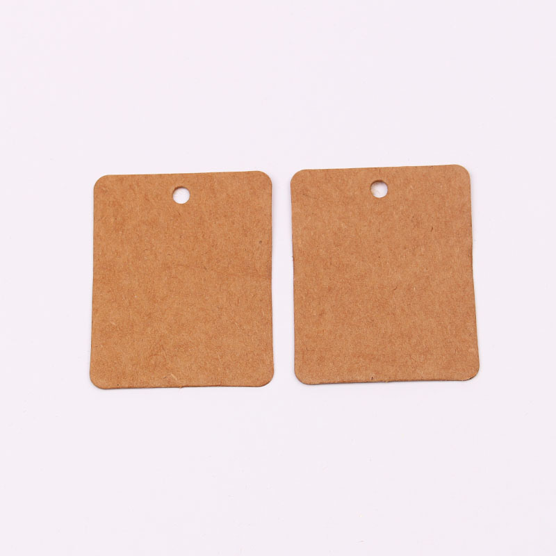 Wholesales 100pcs/lot 3x4CM Brown Cardboard Blank Paper Clothing Price Tags Jewelry Gift Hang Tags Card Square Label Cards