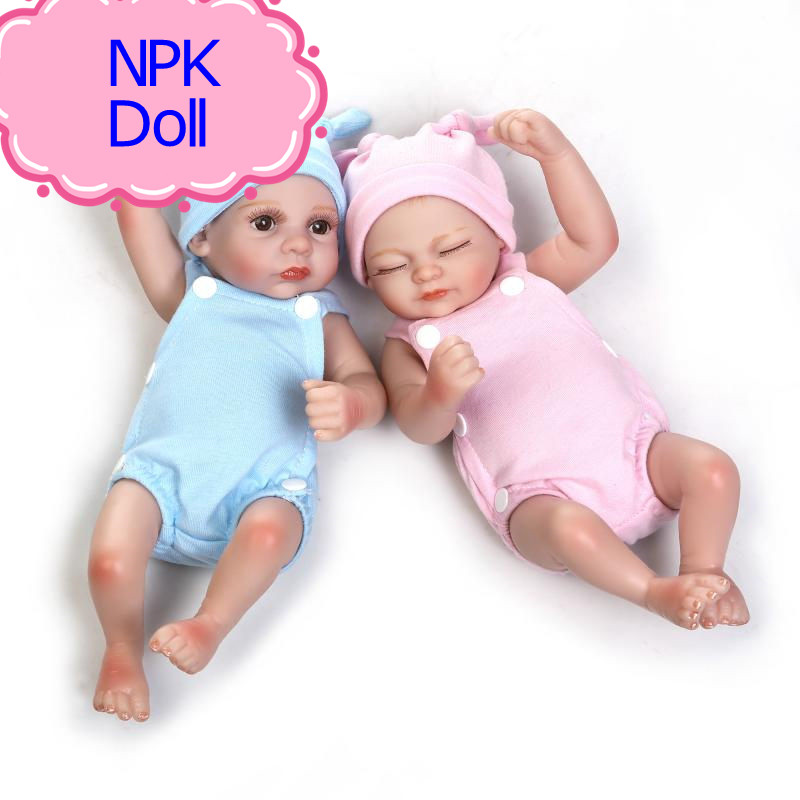 Npk Reborn Babies Dolls 10inch Real Full Silicone Reborn
