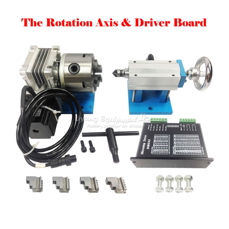 Rotary axis A axis 4th axis for CNC router CNC machine dividing head three-dimensional sculpture take 80 fix with 4 chuck  цены