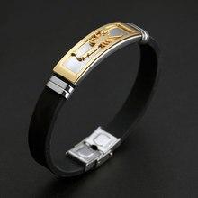 Men's Stylish Silicone Bracelet with Scorpion Themed Decoration
