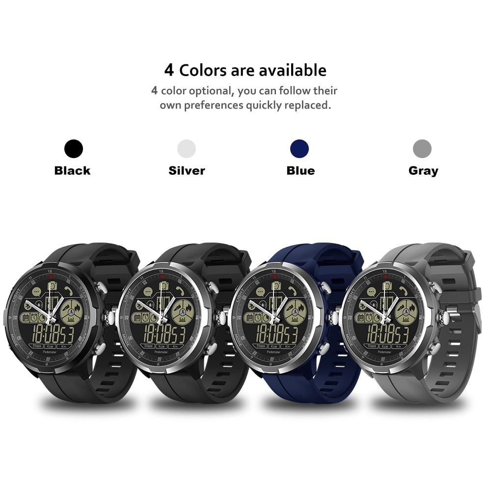 IP67/50 M résistant à l'eau ZEBLAZE VIBE 4 HYBRIDE Robuste Smartwatch 1.24 pouces FSTN & Mains Mécaniques Verre Saphir montre connectée hommes - 6