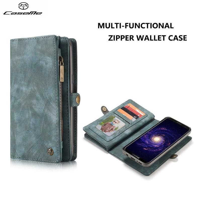 Цена за Для Samsung Galaxy S8 S8 плюс сумка caseme Роскошная натуральная кожа бумажник флип Чехол-книжка для Samsung Galaxy S8 S8 плюс Coque