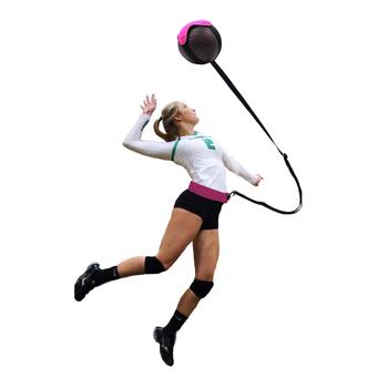 Sprzęt treningowy do siatkówki ćwicz swoją porcję świetny Solo Serve amp Spike Trainer dla początkujących idealny prezent do siatkówki tanie i dobre opinie Kryty compitition ball dropshipping Volleyball trainer LCQPTW Volleyball training Nylon (elastic)