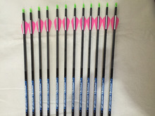 12 Pcs 30″ Carbon arrow ID4.2 Spine600 with  Pin Nock for trational bow and  Recurve bow archery 100grain target point