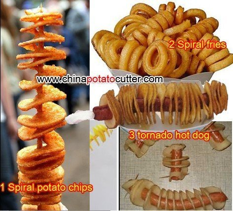 automatic potatoes small projects fried twist potato in taiwan night market low price Sliced potato cyclones  (with counter)