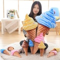 2016 New Ice Cream Plush Toy Cute Pillow Cushion 30cm 12inch 1PCS Children Girls Christmas Present Free Shipping