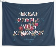 Treat People With Kindness Harry Styles Wall Tapestry Cover Beach Towel Throw Blanket Picnic Yoga Mat