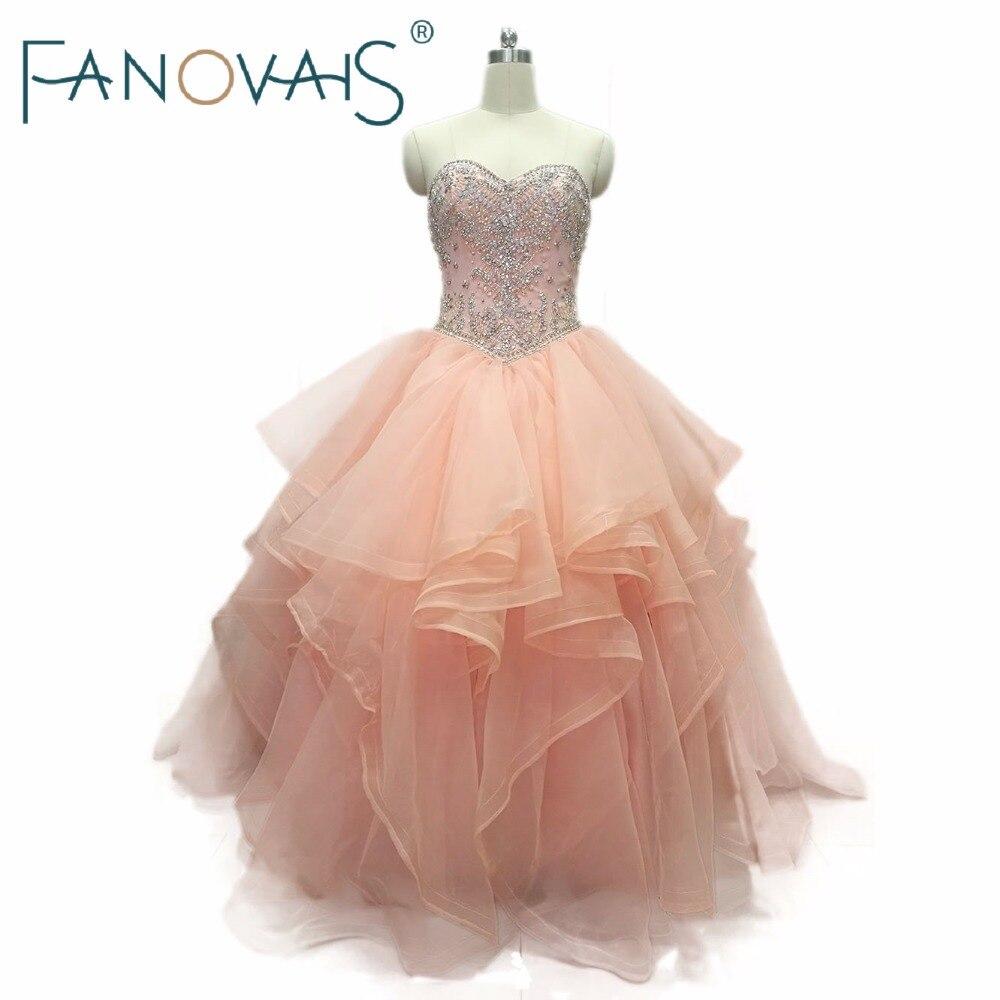 Quinceanera Dresses 2019 vestidos de 15 anos Beads Top Ruffles Prom Dress Sweet 16 Dress vestido de debutantes e 15 anos barato
