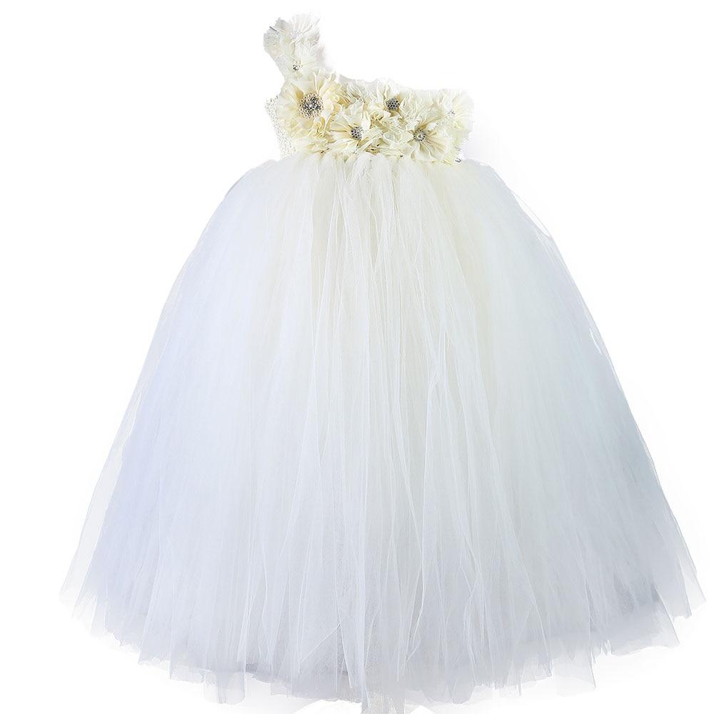 Aliexpress Buy White Flower Girl Dress For Weddings Party Wear