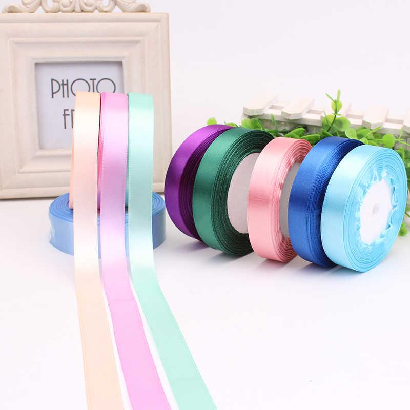 25 Yards//Roll Solid Silk Satin Ribbon Wedding Party Decor Wrapping Width 1-5cm