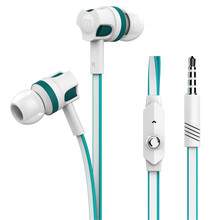 Portable Stereo in ear earphones with microphone Original Langsdom JM26 Bass handsfree earphone supports music for mobile phone