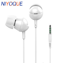 NIYOQUE 3.5mm Auriculares Stereo Earbuds Noice Canceling Sport Earphone Gaming Headset Gamer Handsfree Telefon Kulaklik(China)