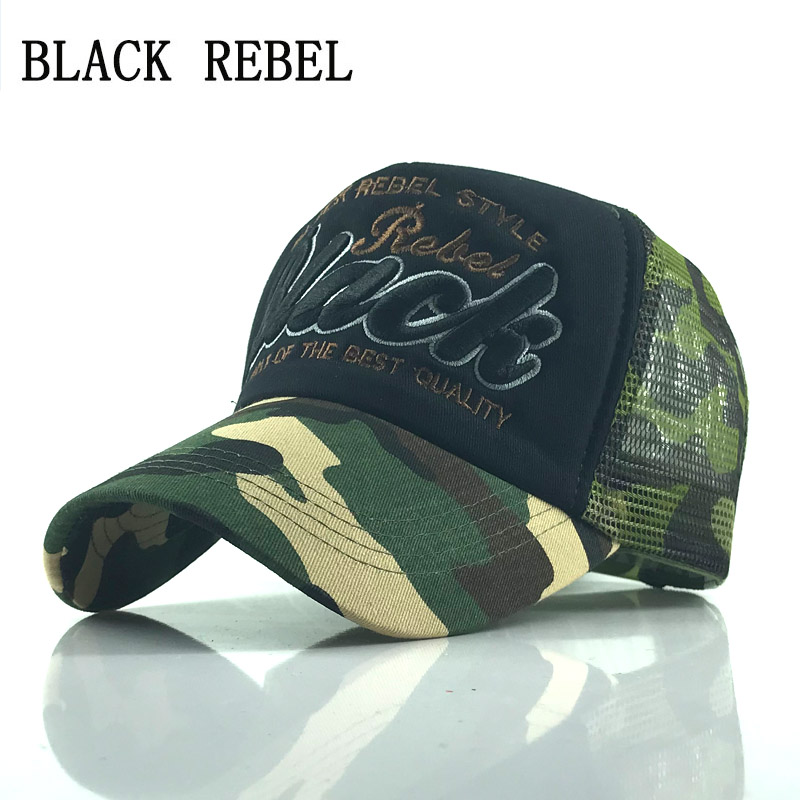 Black Rebel Summer Baseball Cap Embroidery Mesh Cap Hats For Men Women Gorras Hombre hats Casual Hip Hop Caps Dad Casquette