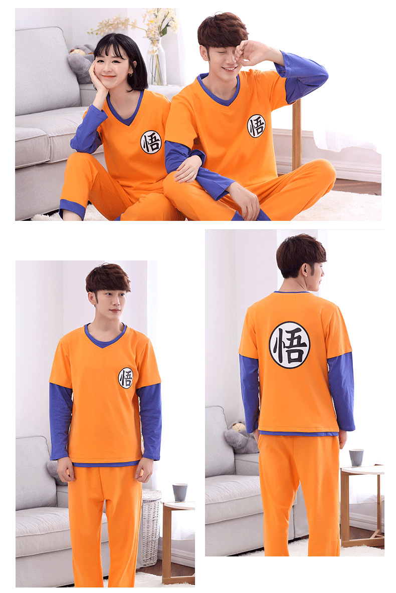 2019 Dragon Ball Family Pajamas Set Christmas Outfit Pijama Sleepwear Mom and Me Clothes Mum Daughter Sun Wukong Family Clothing