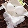 2017 Lingerie Sexy Conjunto Mulheres Sutiã Lingerie Definir Luxuoso Do Laço Do Vintage Bordado Push Up Bra E Panty Set