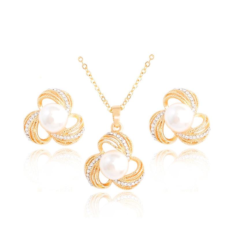 H HYDE font b Luxury b font Bridal Party font b Jewelry b font Sets Flower