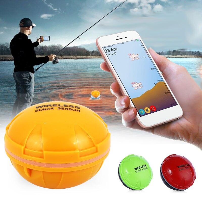 WiFi Wirele Bluetooth Smart Fishfinder Sonar IOS Android Smartphone Fish Finder Shore Tablet Boat 125KHz Lake 36M App Sea