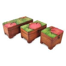Ручной Вырезать натурального дерева красочные специальный ящик для хранения домашнего украшения